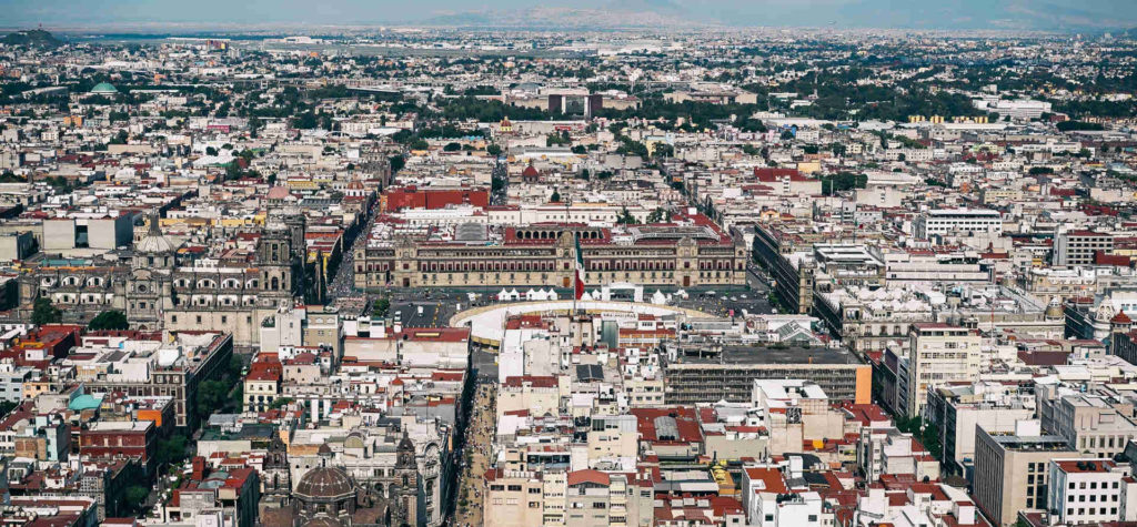 Types of Spanish Aerial View of Mexico